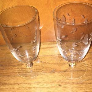 Princess House  tea glassses